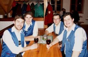 Jungmusiker unter sich: Von links: Johannes und Stefan Mayerhofer, Paul Prisching und Matthias Halmenschlager