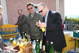 Bernhard Prisching, Hans Kerschner und Reinhard Buchinger (von links) schenkten aus