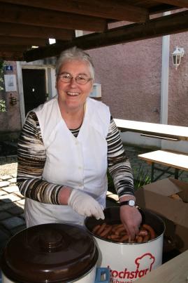 Barbara Ackerling servierte Frankfurter