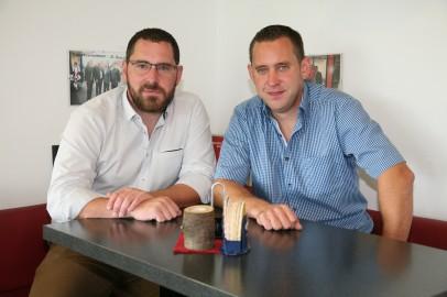 Christian und Thomas Bauer (von links) in ihrem Cafe Barrique