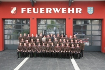Die Mannschaft der FF Murstetten im Mai 2016 vor dem neuen FF-Haus