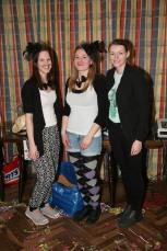 Jasmin Dürauer, Adriana Hofbauer und Irina Mayer (von links) sorgten für Tanzspiele und Musik
