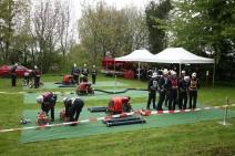Bei widrigen Wetterverhältnissen traten 37 Wettkampfgruppen im sogenannten Kastanienstadion an