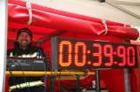 Andreas Kos nahm die Zeitmessung vor