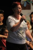 EV-Kassierin Sabine Schwendt stellte die laufenden und geplanten Projekte des Elternvereins vor und bat um Unterstützung