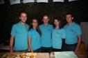 Christian Herzog, Angelika Hickelsberger, Manuel Puxbaum, Carina Pokorny und Andreas Nentwich (von links) bedienten die Schank