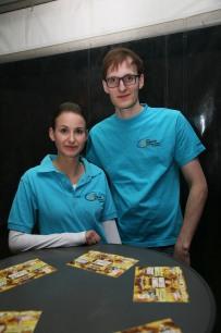 Leiterin Sophie Dürauer und Leiter Andreas Eder ist die Anspannung der letzten Vorbereitungstage anzumerken