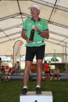Als ältester Teilnehmer nahm Dominic Hagl am 5 km Lauf teil und war eine Klasse (M70) für sich