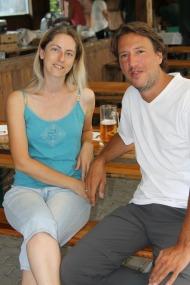 Als erste Besucher konnte Obmann Riegl Sabine und Martin Nußbaumer begrüßen