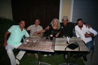 Von links: Stanko Jerry, Kefal Dragan, Jasmina und Moša Šišic, Peppi Jovanović