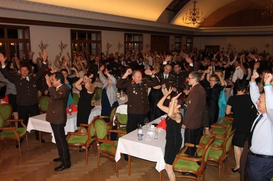 Die Tanzband Achtung! sorgte für beste Unterhaltung im Ballsaal