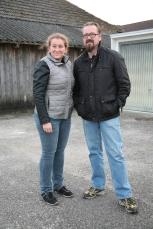 Iris und Christian Mayer stellten ihr Firmenareal für die Übung zur Verfügung