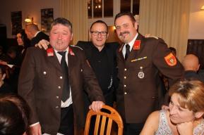 Alois Siedl, Bandleader Leopold Schweighofer und Kdt. Johann Dorner (von links)