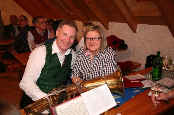 Franz Schubert und Kapmst. Karin Grubner aus Kirchberg freuten sich über den gelungenen Musikantenstammtisch