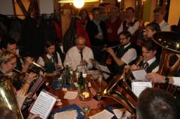 Auch ein Ensemble des Kapellner Musikvereins leistete seinen Beitrag zum Musikantenstammtisch.