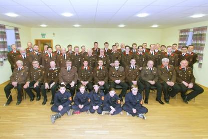 54 der 62 Mitglieder der FF Perschling nahmen an der Versammlung teil.