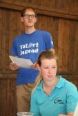 Die Landjugendleiter Andreas Eder und Jasmin Poschmaier stellten mit einer Fotoschau die ereldigten Aufgaben vor