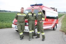 Julian Pinz, Gerald Redl und Stefan Kuntner (von links) sicherten die Laufroute