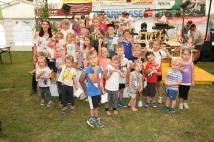 Der Vorschulbewerb erfreute sich großer Beliebtheit, die Kinder freuten sich über die Pokale
