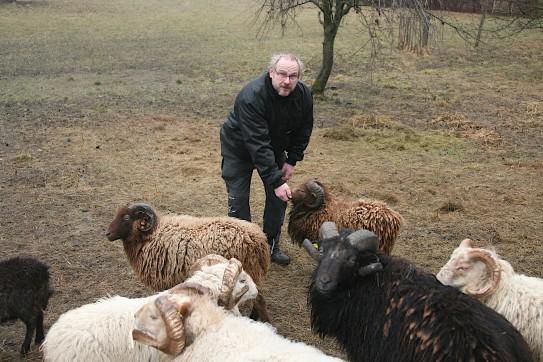 Andreas Kapitzke ist Schäfer mit Herz und Seele, der seine Herde im Winter täglich betreut