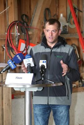 Landwirt Dietmar Haas stellte das Projekt als Investition in die Zukunft vor