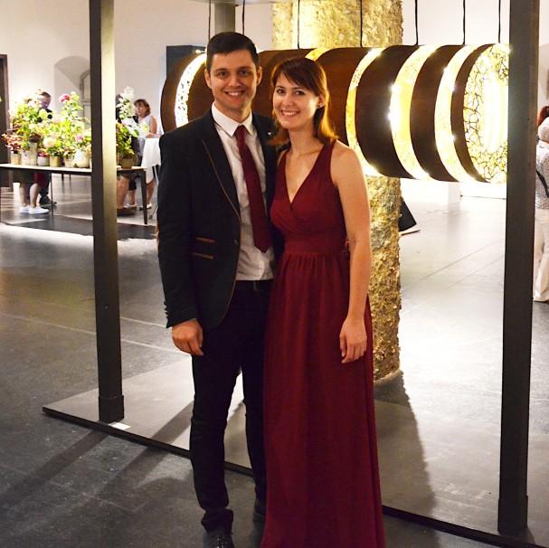 Nikola Bozilovic und Christina Linauer bei der Feier zur Meisterprüfung