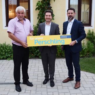 Reinhard Breitner, Vizebgm. und Parteiobmann Daniel Weis, NR Friedrich Ofenauer (von links)