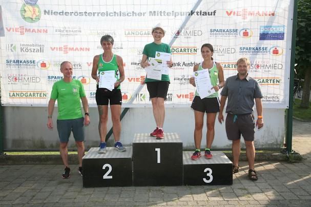 Vereinsmeisterschaft Damen, von links: Obmann Rene Schmied, Barbara Blaschek, Monika Stadler, Stefanie Gugerell und Bgm. Alois Vogl